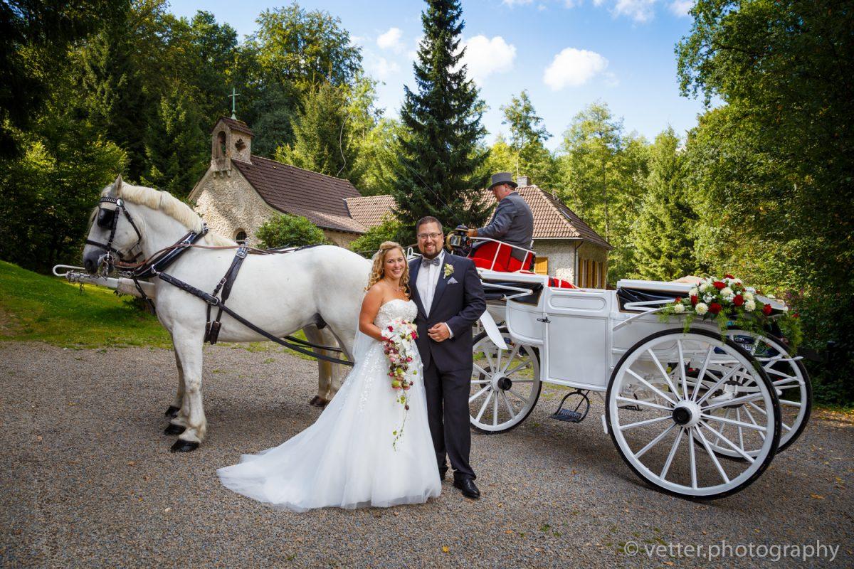 Hochzeit von Cerstin und Björn in der alten Waldkirche